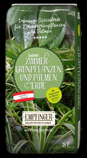 Zimmer-Grünpflanzen und Palmenerde